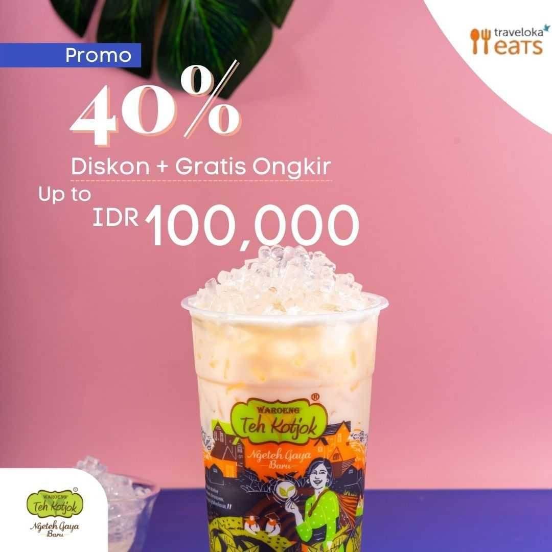 Diskon Waroeng Teh Kotjok Diskon 40% + Gratis Ongkir Dengan Traveloka Eats