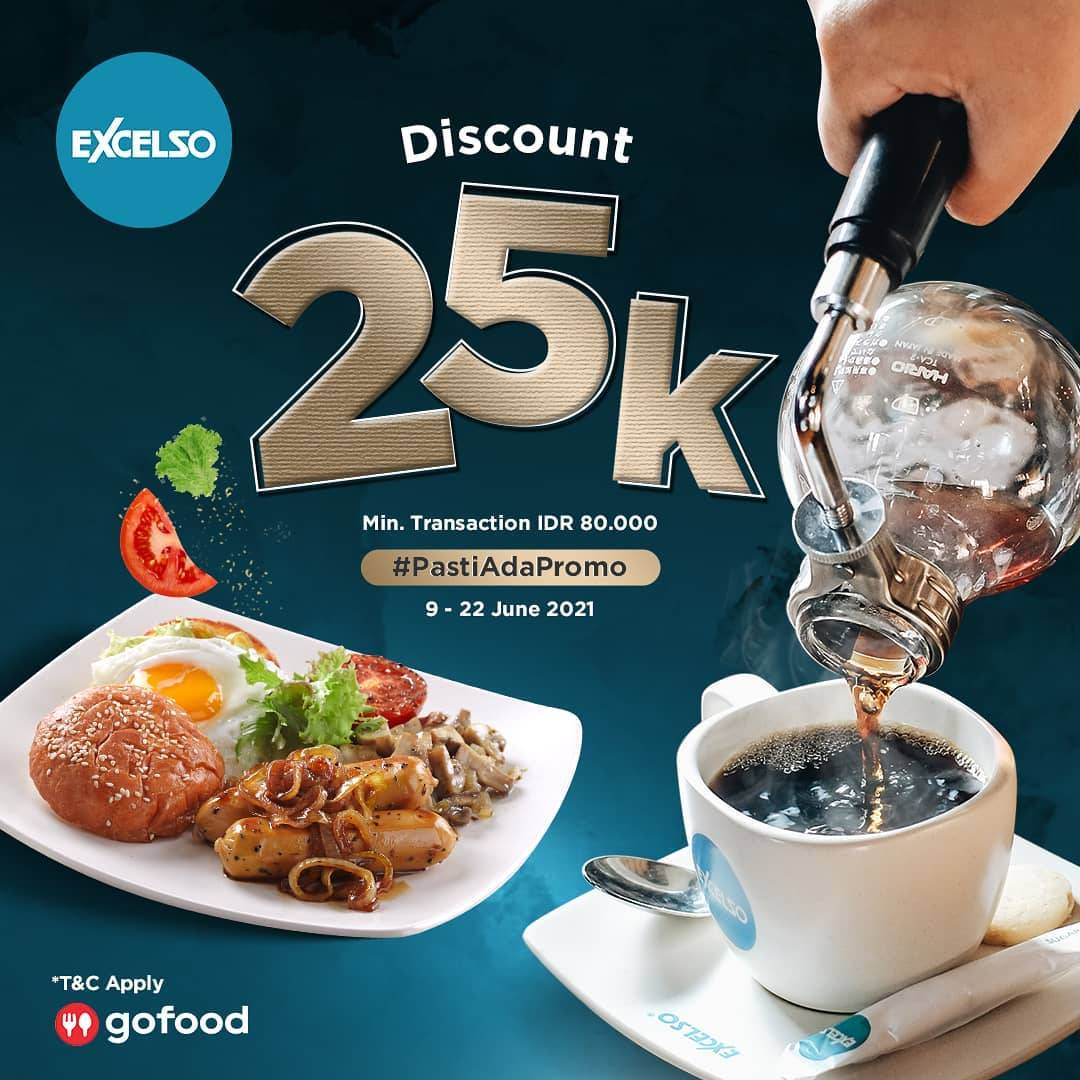 Diskon Excelso Discount Rp. 25.000 Dengan GoFood
