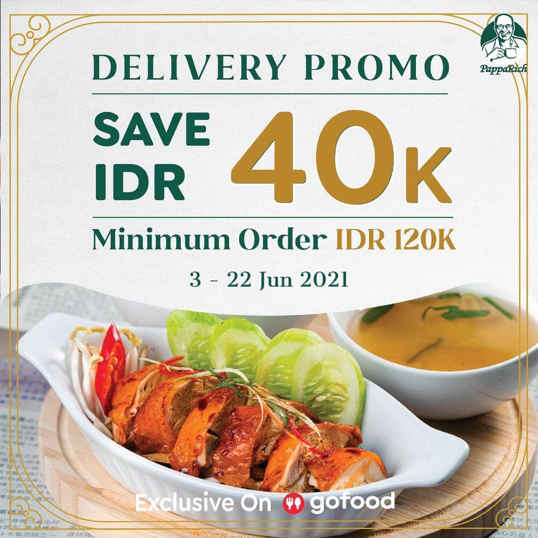 Diskon Papparich Delivery Promo Discount Rp. 40.000 Dengan GoFood