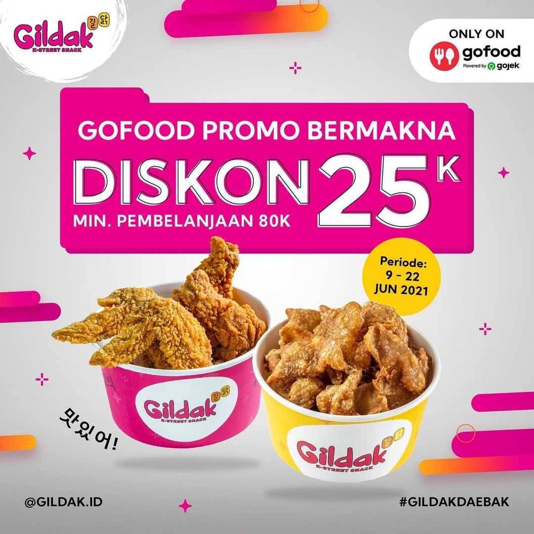 Diskon Gildak GoFood Promo Bermakna Diskon Rp. 25.000