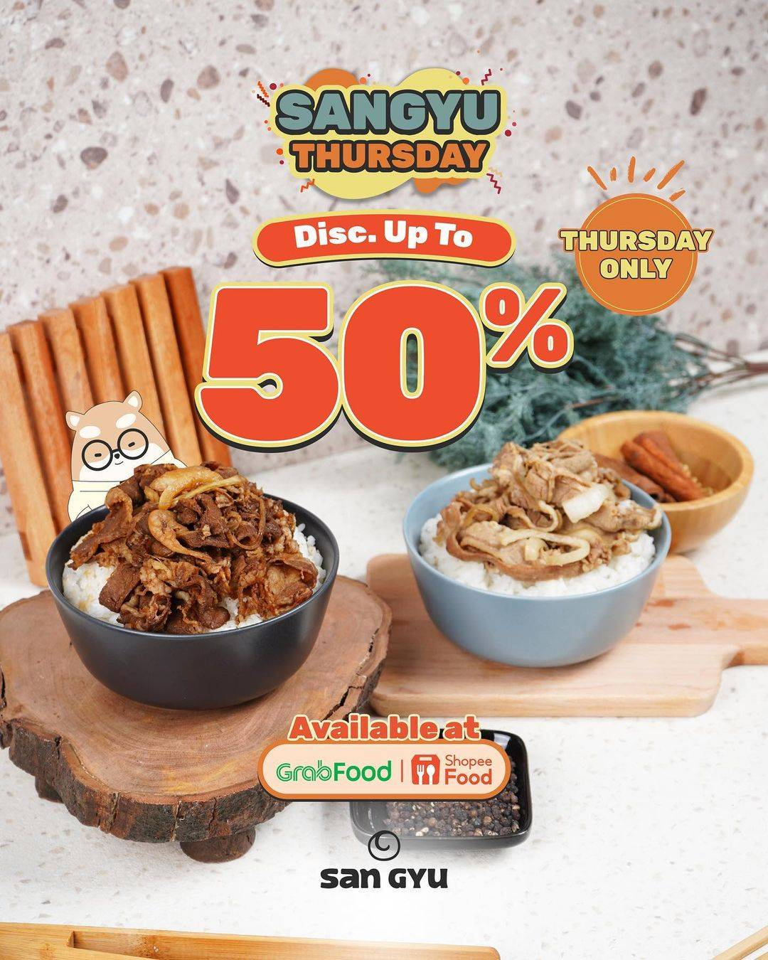 Diskon San Gyu Discount Up To 50% Off