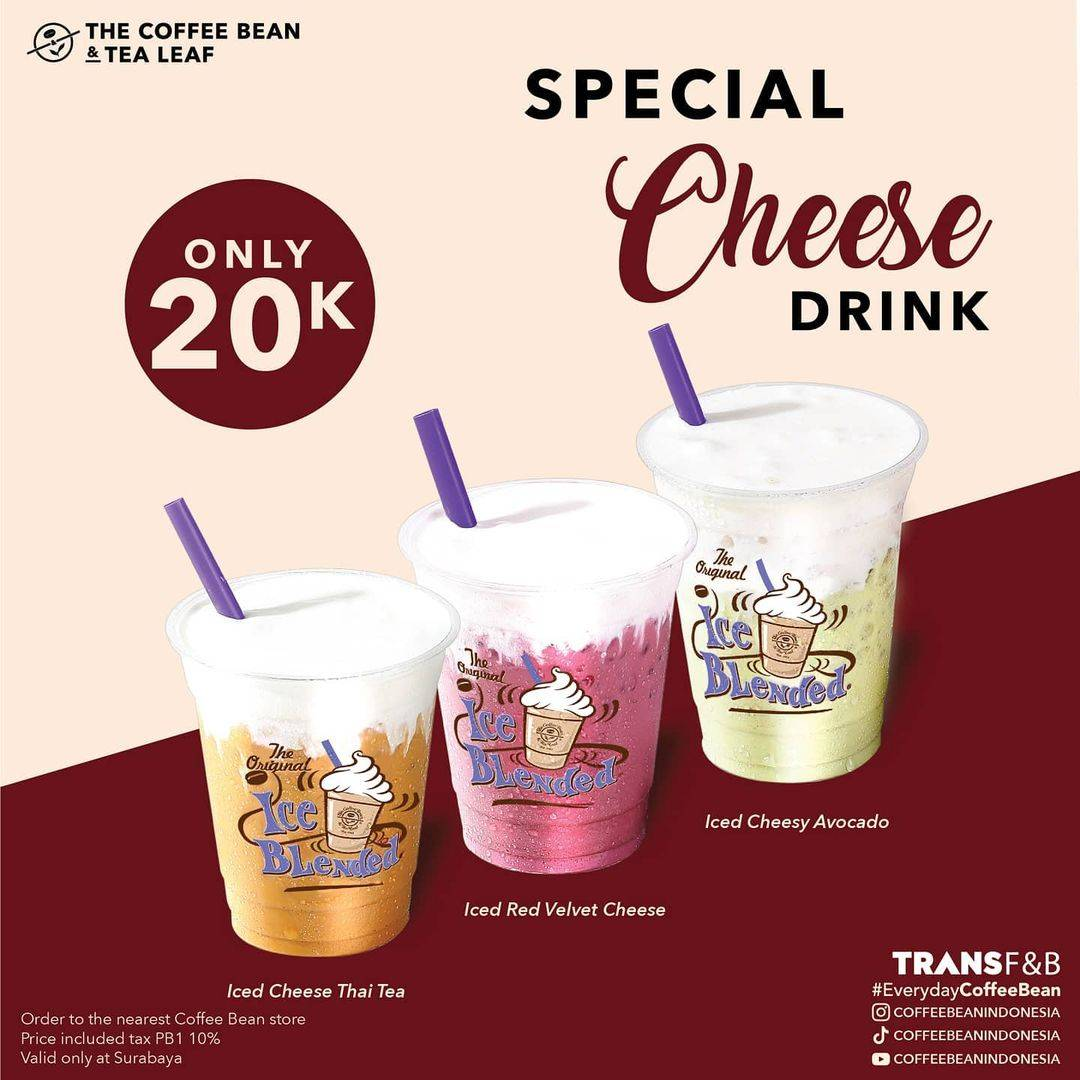 Diskon The Coffee Bean & Tea Leaf Special Cheese Drinks Only For Rp. 20.000
