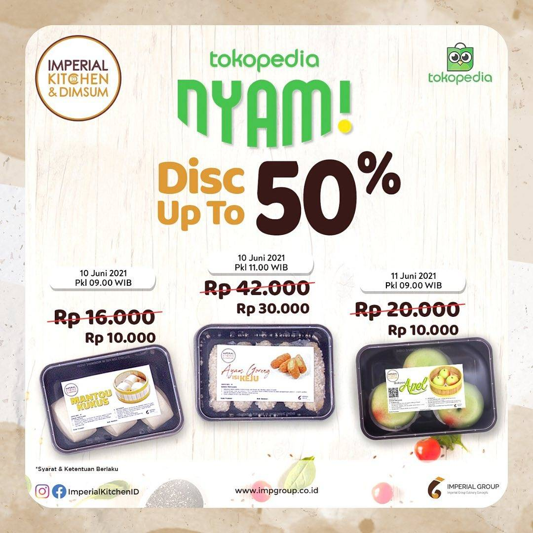 Diskon Imperial Kitchen Discount Up To 50% Off On Tokopedia