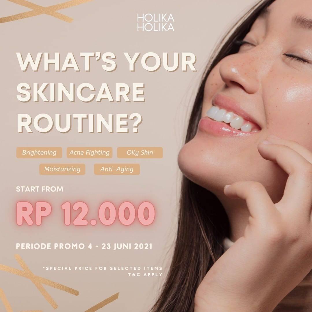 Diskon Holika Holika Promo Special Value On Skincare Start From Rp. 12.000