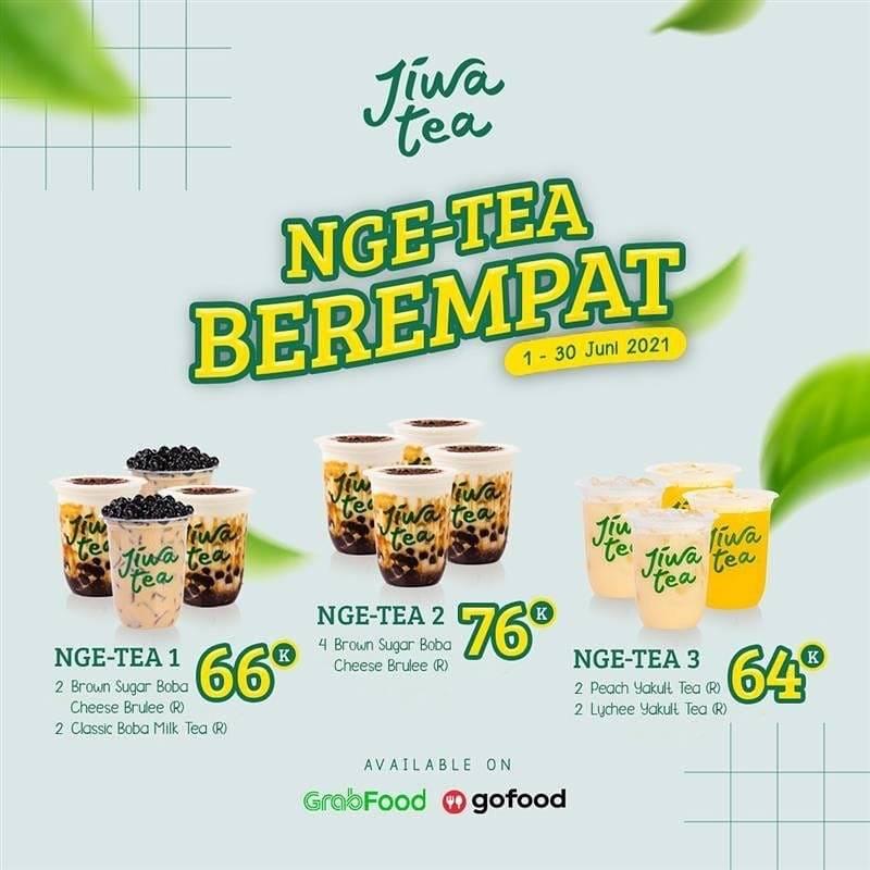Diskon Jiwa Tea Promo Nge-Tea Berempat Mulai Dari Rp. 64.000