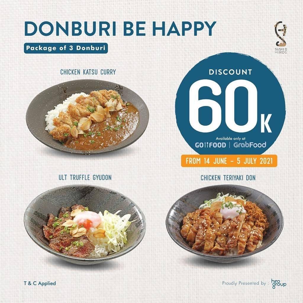 Diskon Sushi Hiro Donburi Be Happy Discount Rp. 60.000 On Donburi