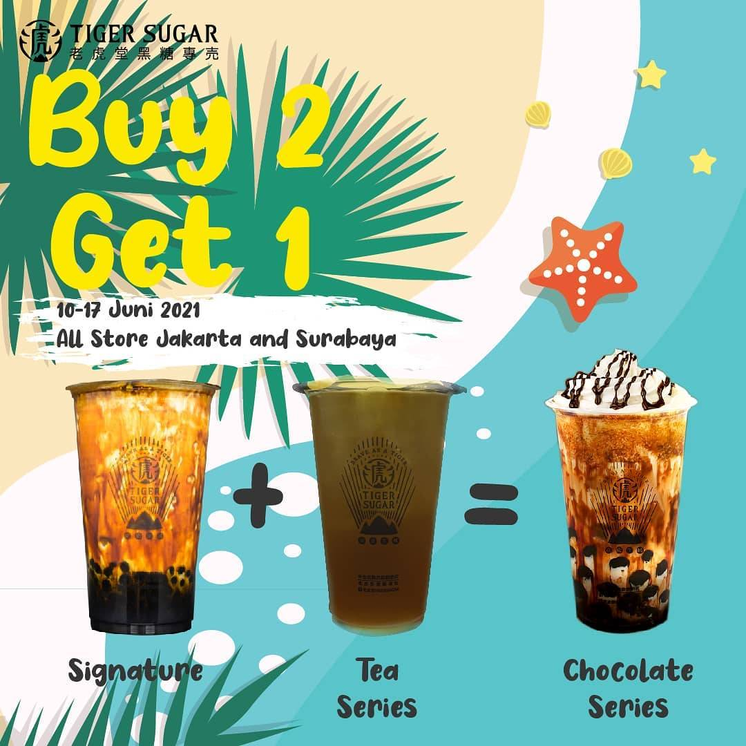 Diskon Tiger Sugar Buy 2 Get 1 Free Beverages