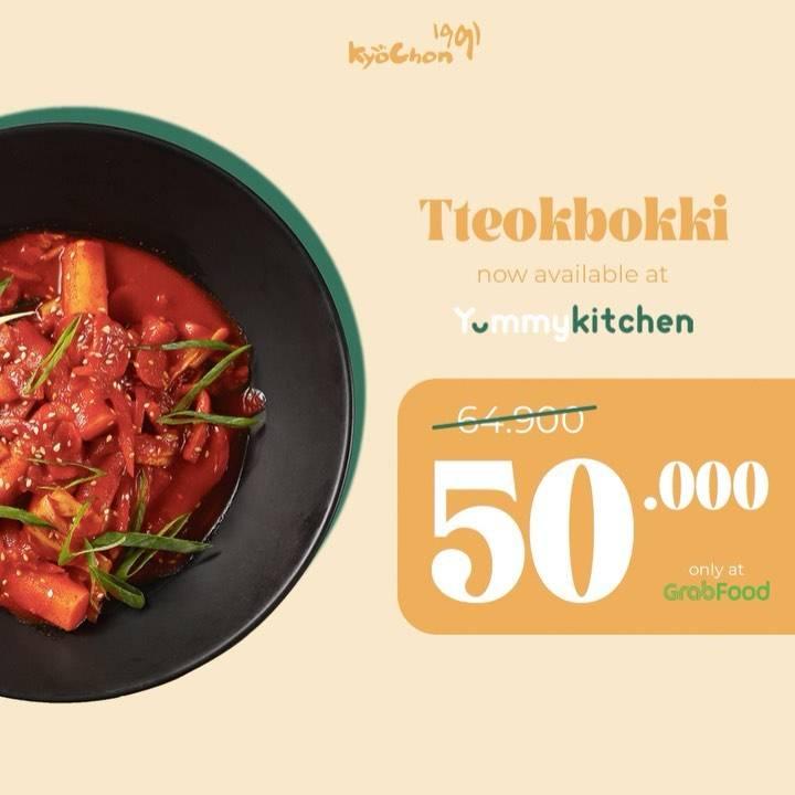 Diskon Kyochon Promo Tteokbokki Hanya Rp. 50.000 Dengan GrabFood