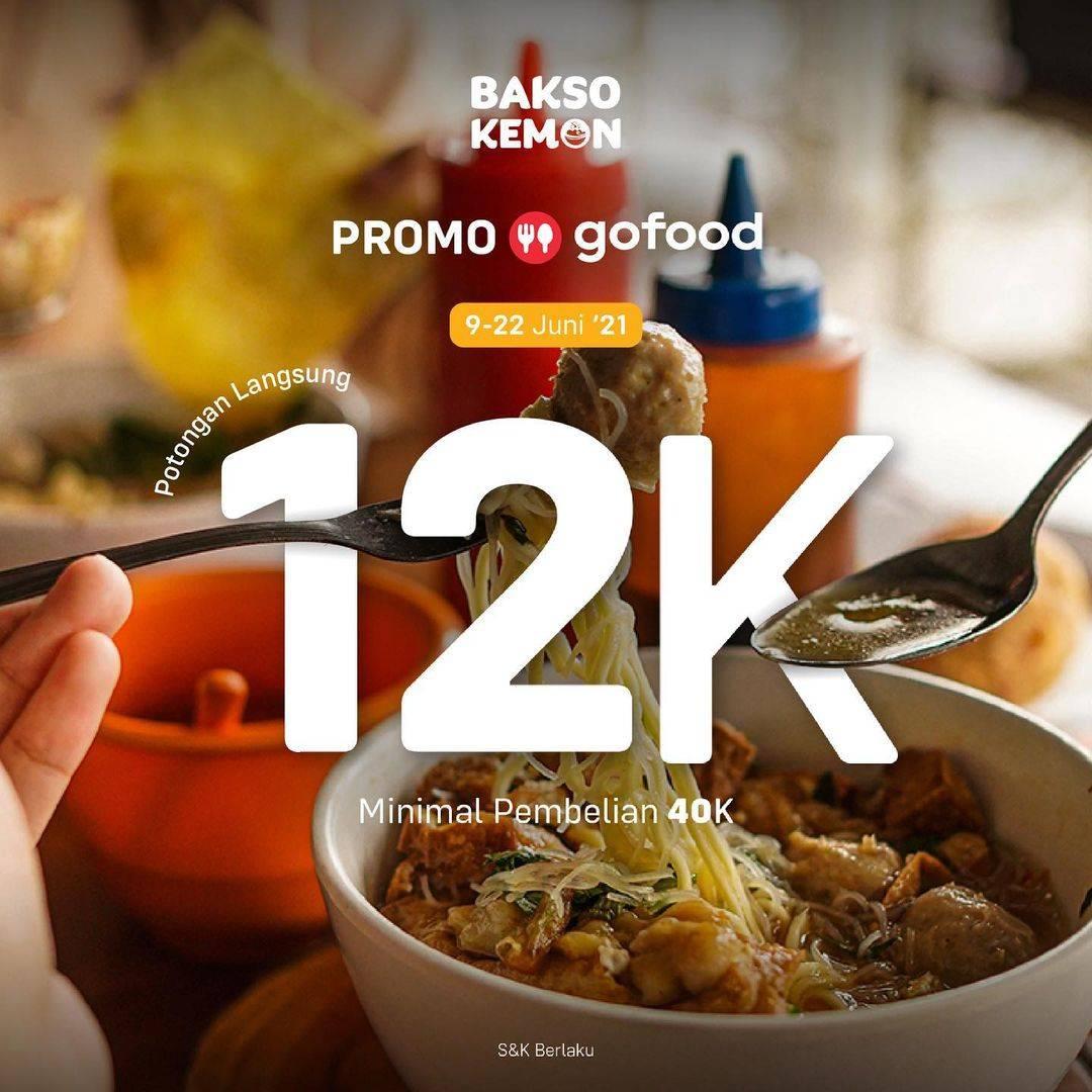 Diskon Bakso Kemon Diskon Rp. 12.000 Dengan GoFood