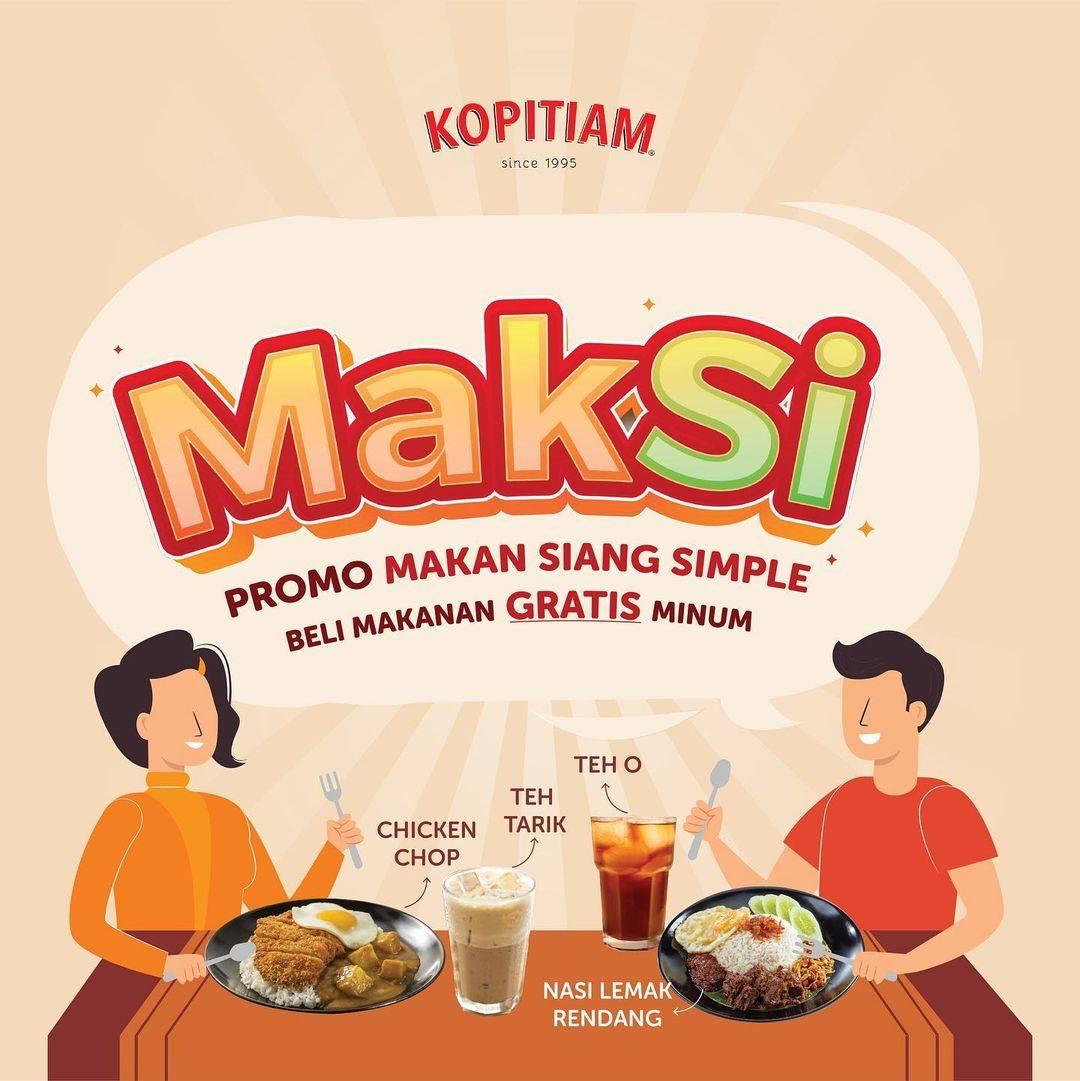 Diskon Kopitiam Promo Maksi Beli Makanan Gratis Minum