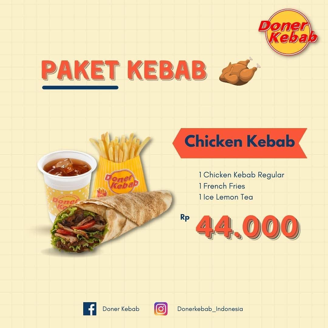 Diskon Doner Kebab Promo Paket Chicken Kebab Hanya Rp. 44.000