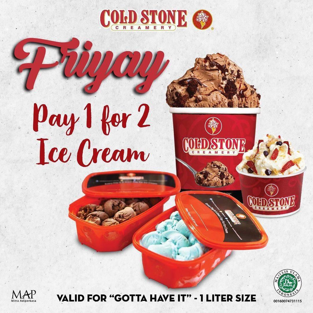 Diskon Cold Stone Friyay Pay 1 For 2 Ice Cream