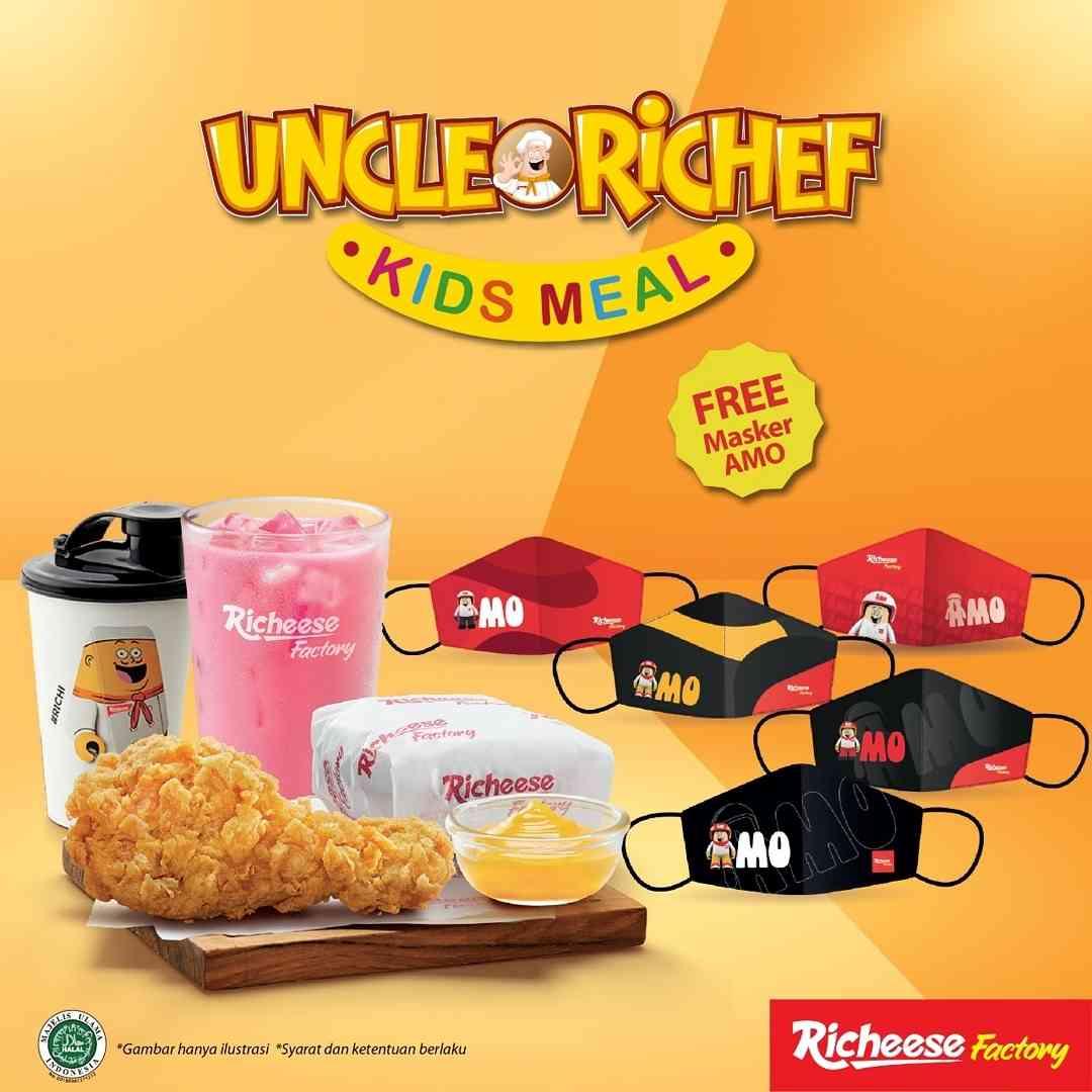 Diskon Richeese Factory Promo Kids Meal Gratis Masker AMO