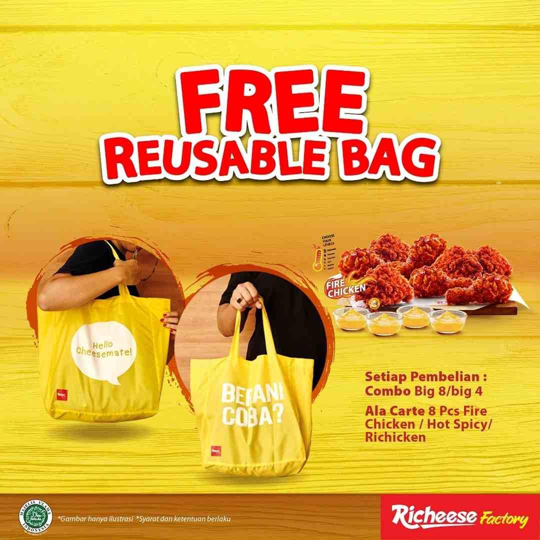 Diskon Richeese Factory Free Reusable Bag