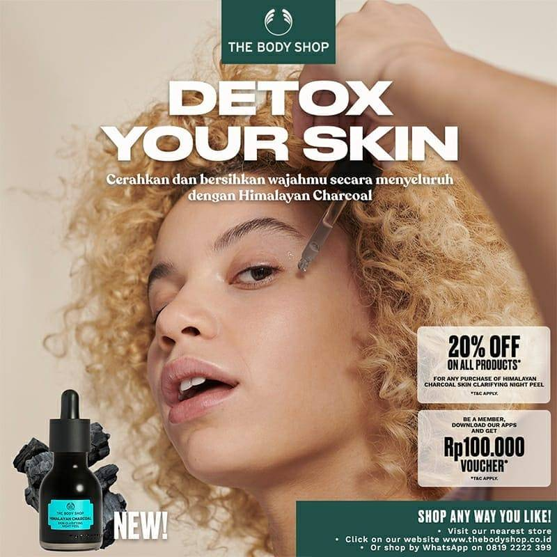 Diskon The Body Shop Discount 20% Off On Himalayan Charcoal Series