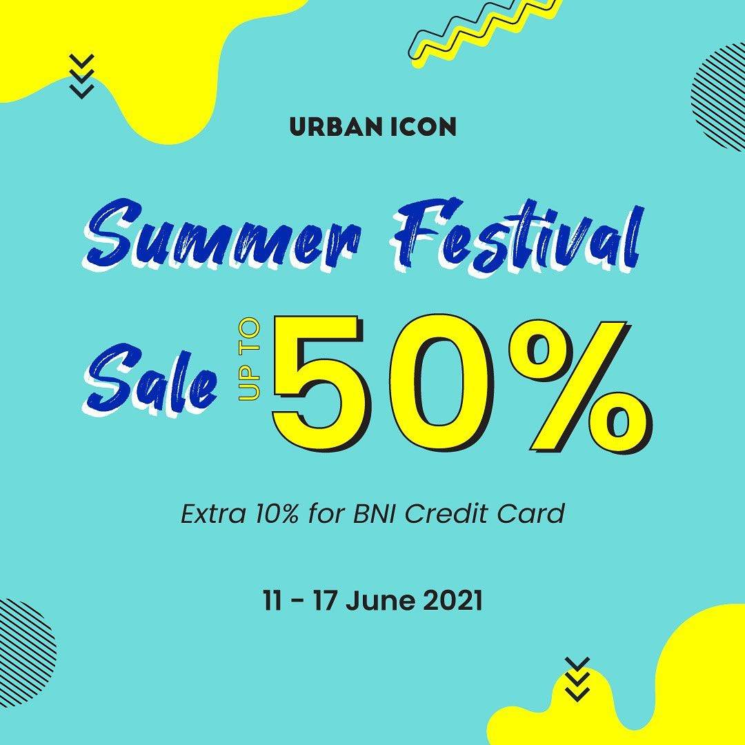 Diskon Urban Icon Summer Festival Sale Up To 50% Off
