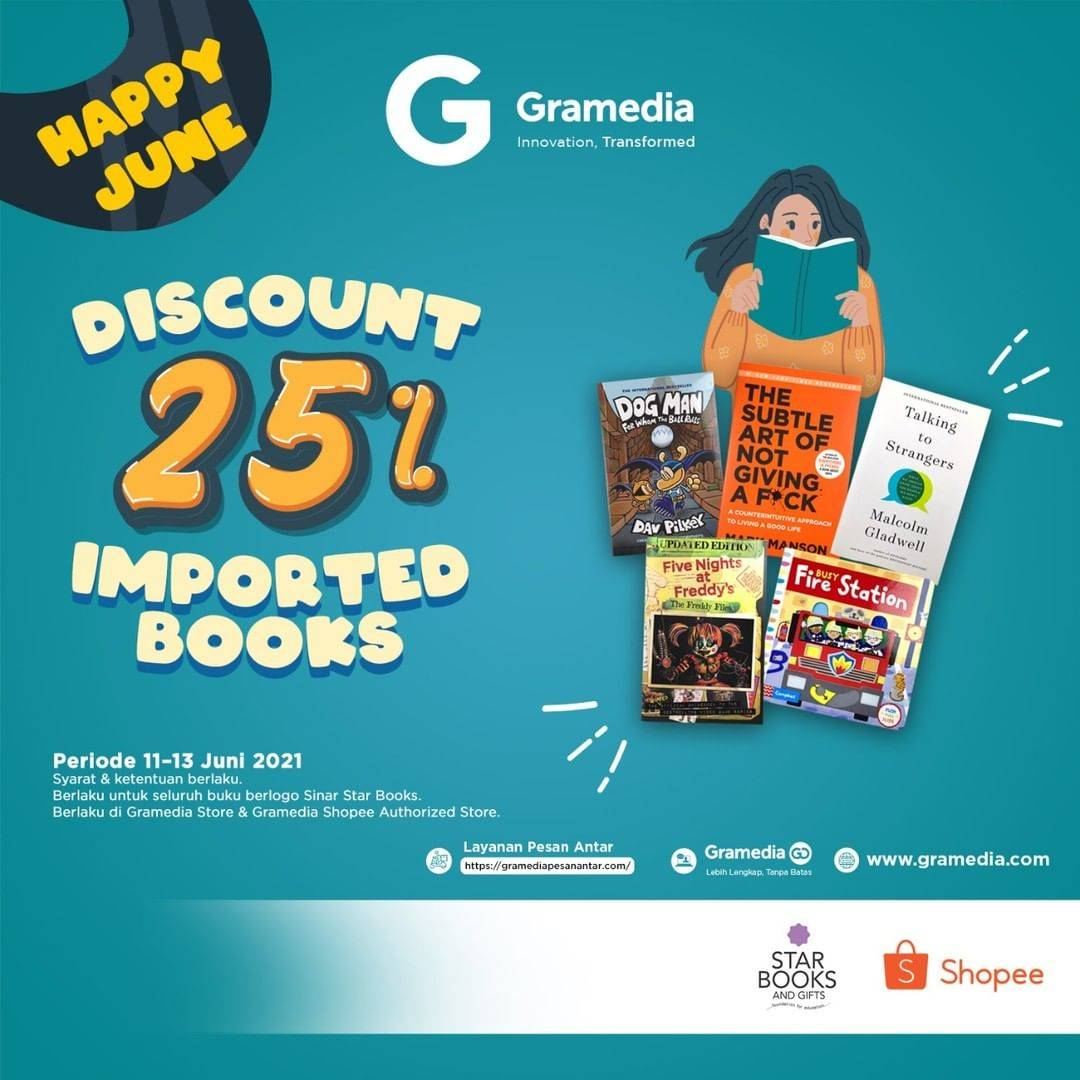Diskon Gramedia Discount 25% Off On Imported Books