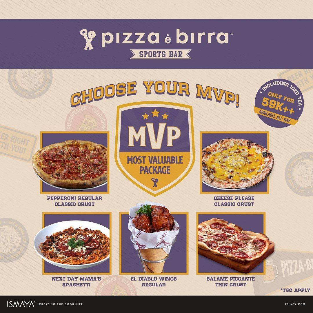 Diskon Pizza E Birra Promo MVP Only For Rp. 59.000++