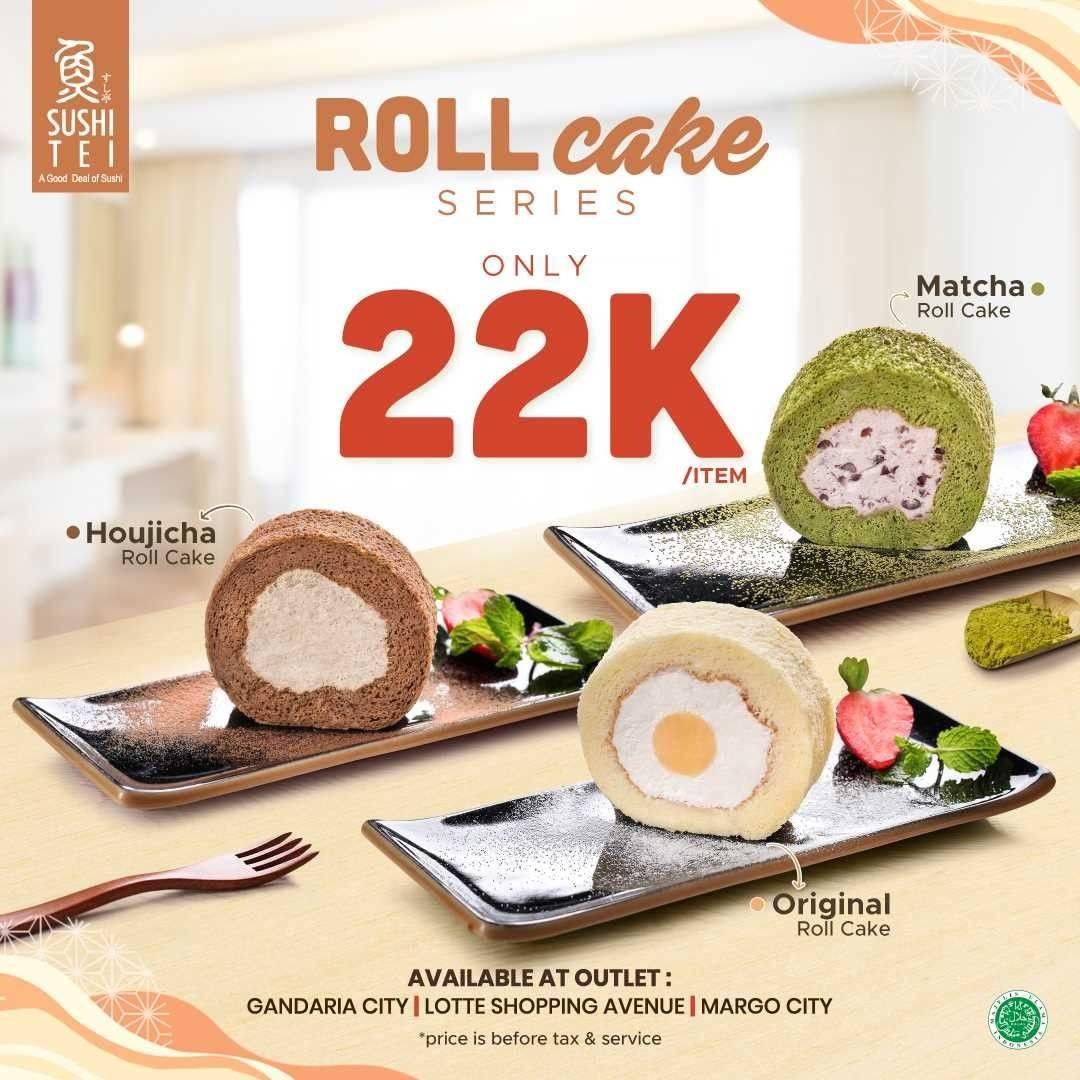 Diskon Sushi Tei Promo Roll Cakes Series Hanya Rp. 22.000