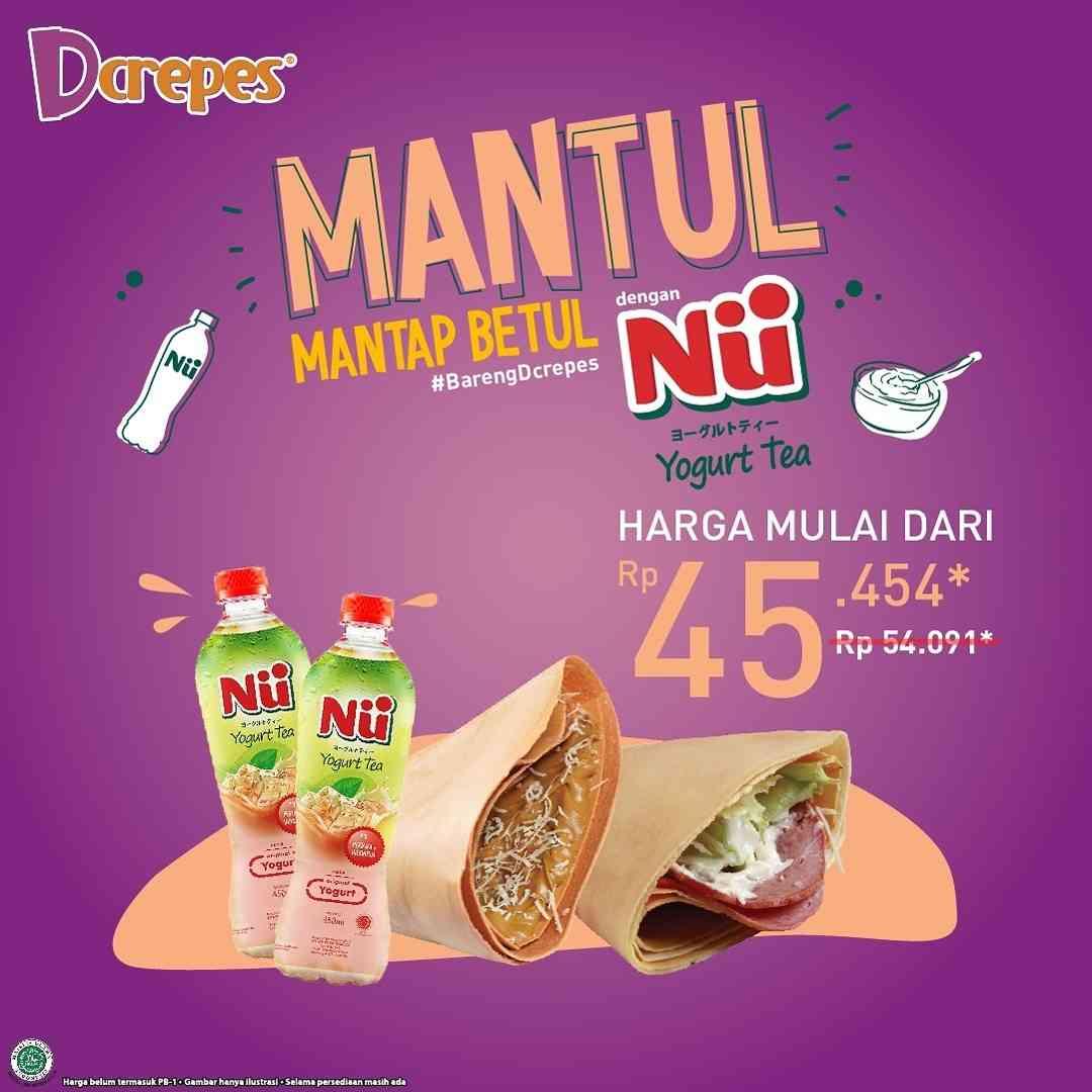 Diskon DCrepes Promo Mantap Betul Dengan Nu Yogurt Tea Mulai Dari Rp. 45Ribuan