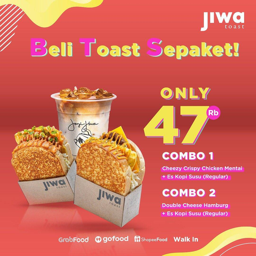 Diskon Jiwa Toast Promo Beli Toast Sepaket Hanya Rp. 47.000