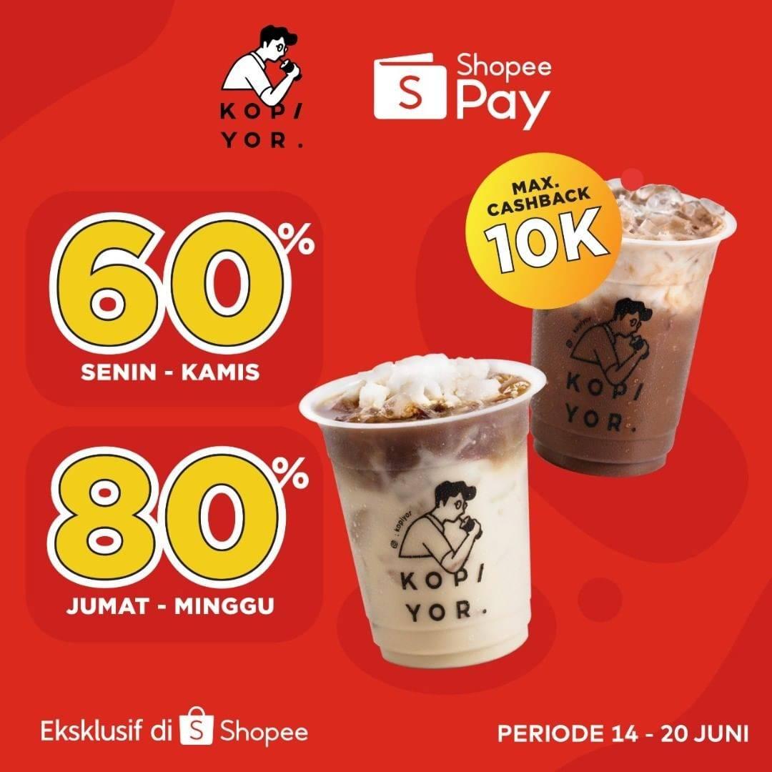 Diskon Kopi Yor Diskon 60% Dengan Shopeepay