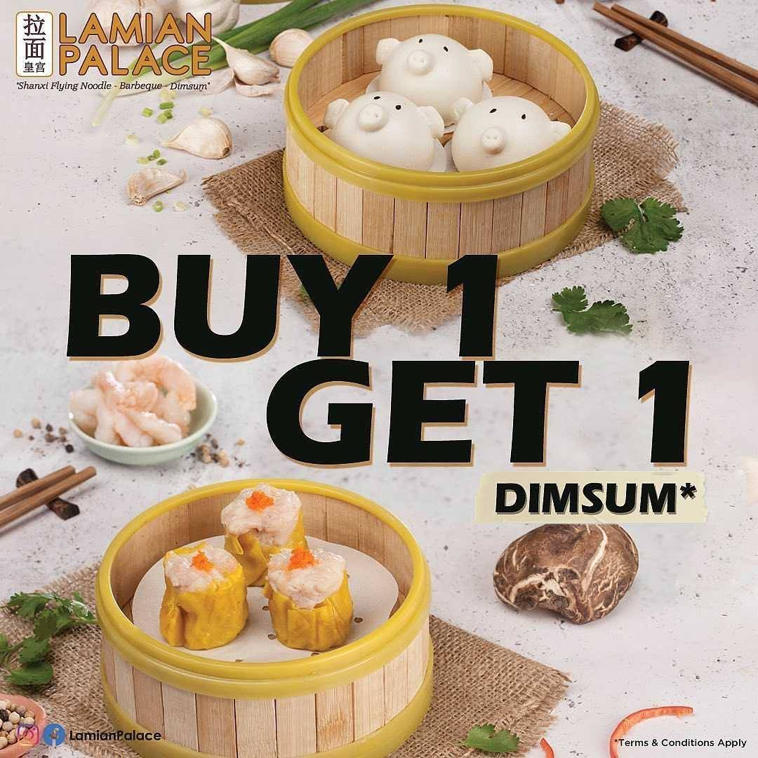 Promo diskon Lamian Palace Delicious Dimsum Promo Buy 1 Get 1 Free