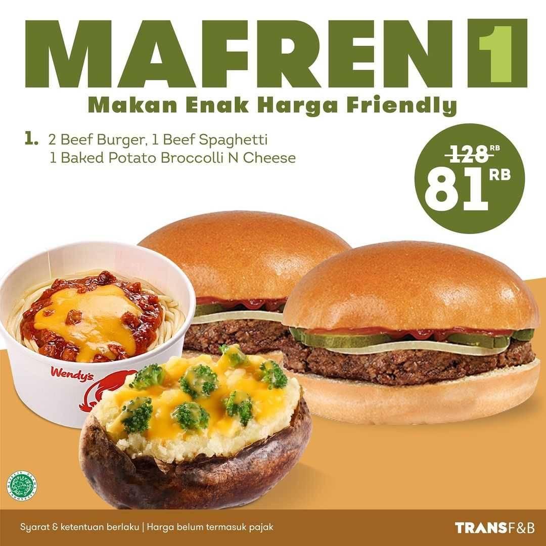 Diskon Wendys Promo Paket Mafren Hanya Rp. 81.000