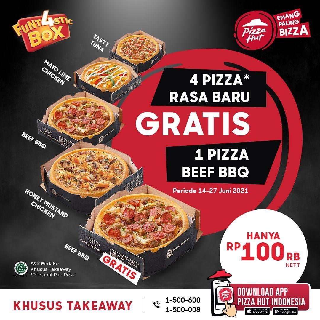 Diskon Pizza Hut Beli 4 Pizza Rasa Baru Gratis 1 Pizza Beef BBQ