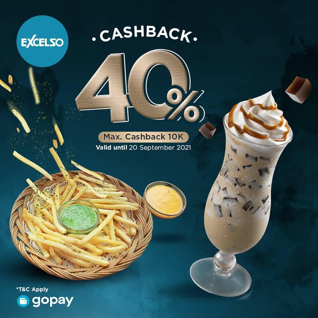 Diskon Excelso Cashback 40% Dengan Gopay