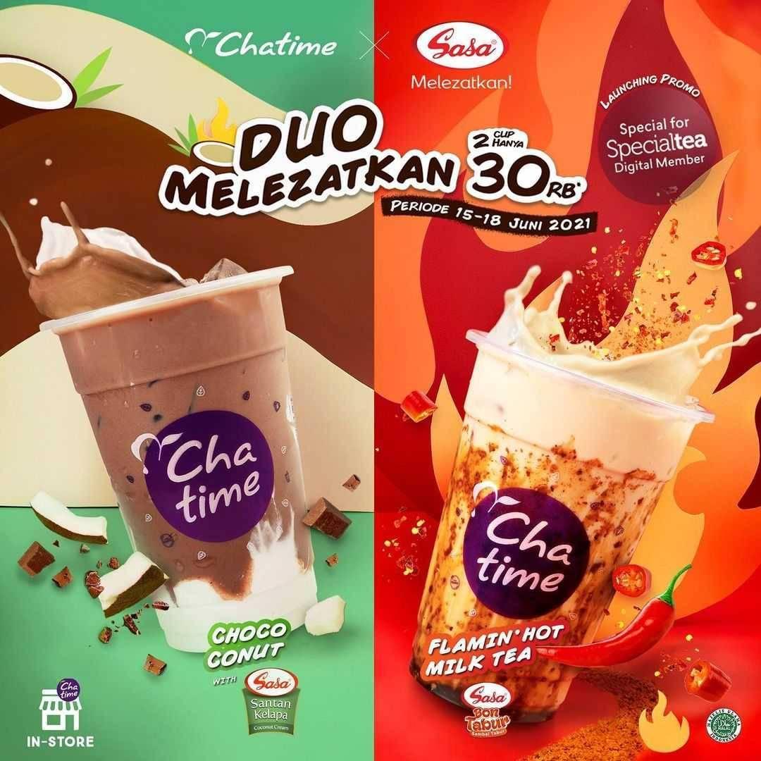 Promo diskon Chatime Promo Duo Melezatkan