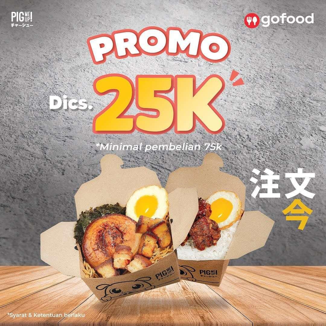 Diskon Pig Me Up Diskon Rp. 25.000 Dengan GoFood