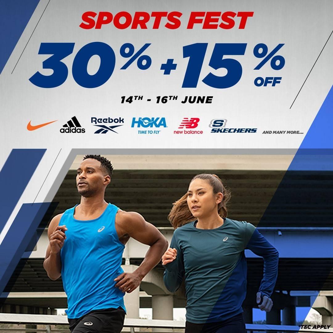 Diskon Planet Sports Promo Sports Fest Discount 30% + 15% Off