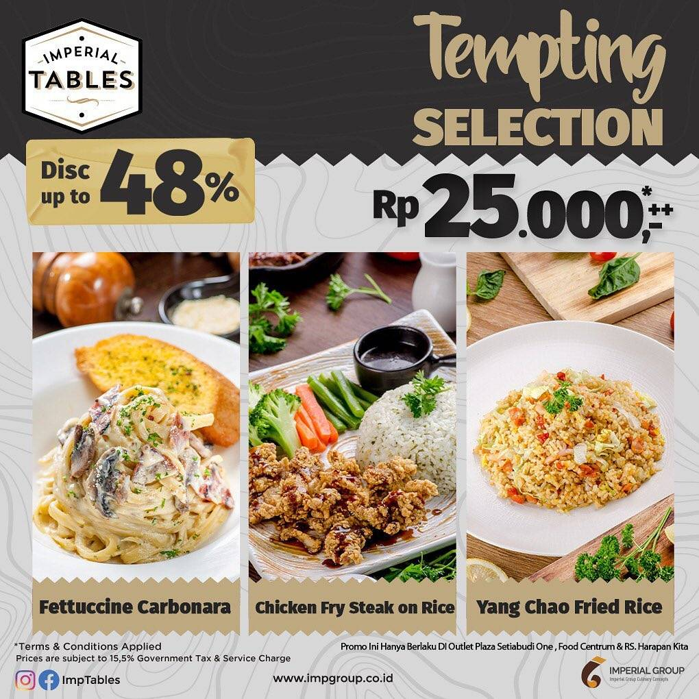 Diskon Imperial Tables Promo Tempting Selection Discount Up Up To 48% Off