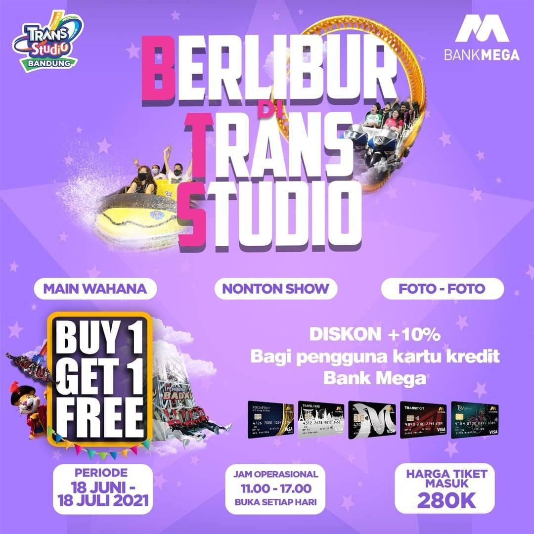 Diskon Trans Studio Buy 1 Get 1 Free Tiket Masuk