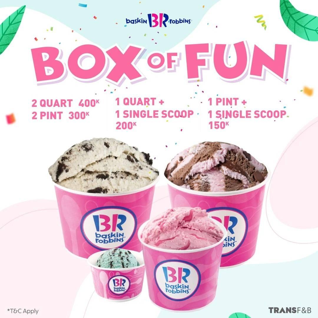 Diskon Baskin Robbins Promo Box Of Fun Mulai Dari Rp. 150.000
