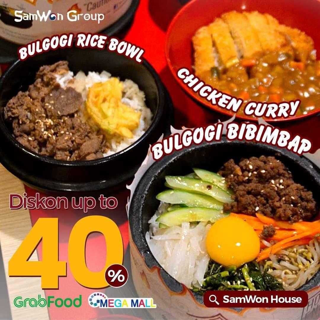 Diskon Samwon Group Discount Up To 40% Off On GrabFood