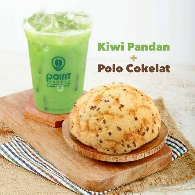 Diskon Point Coffee Promo Kiwi Pandan + Polo Cokelat Mulai Dari Rp. 25.000