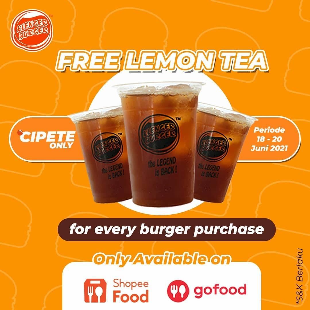 Diskon Klenger Burger Buy Burger Get Free Lemon Tea