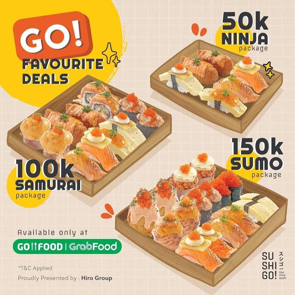 Diskon Sushi Go! Favourite Deals Start From Rp. 50.000