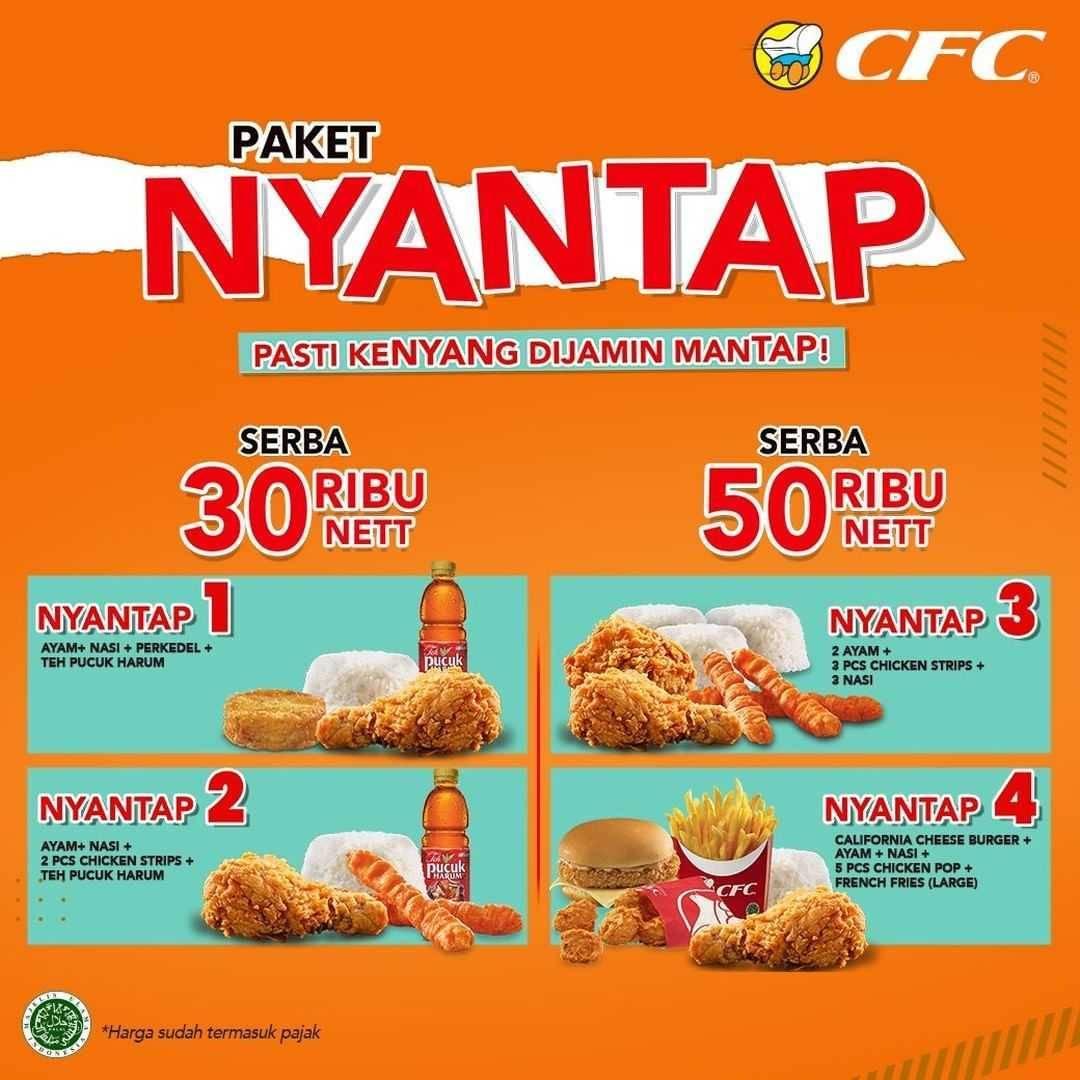 Promo diskon CFC Promo Paket Nyantap Serba Rp. 30.000 dan Rp. Serba 50.000