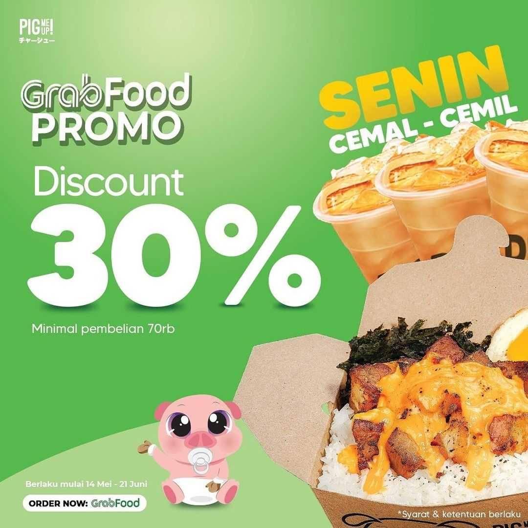 Promo diskon Pig Me Up Promo GrabFood