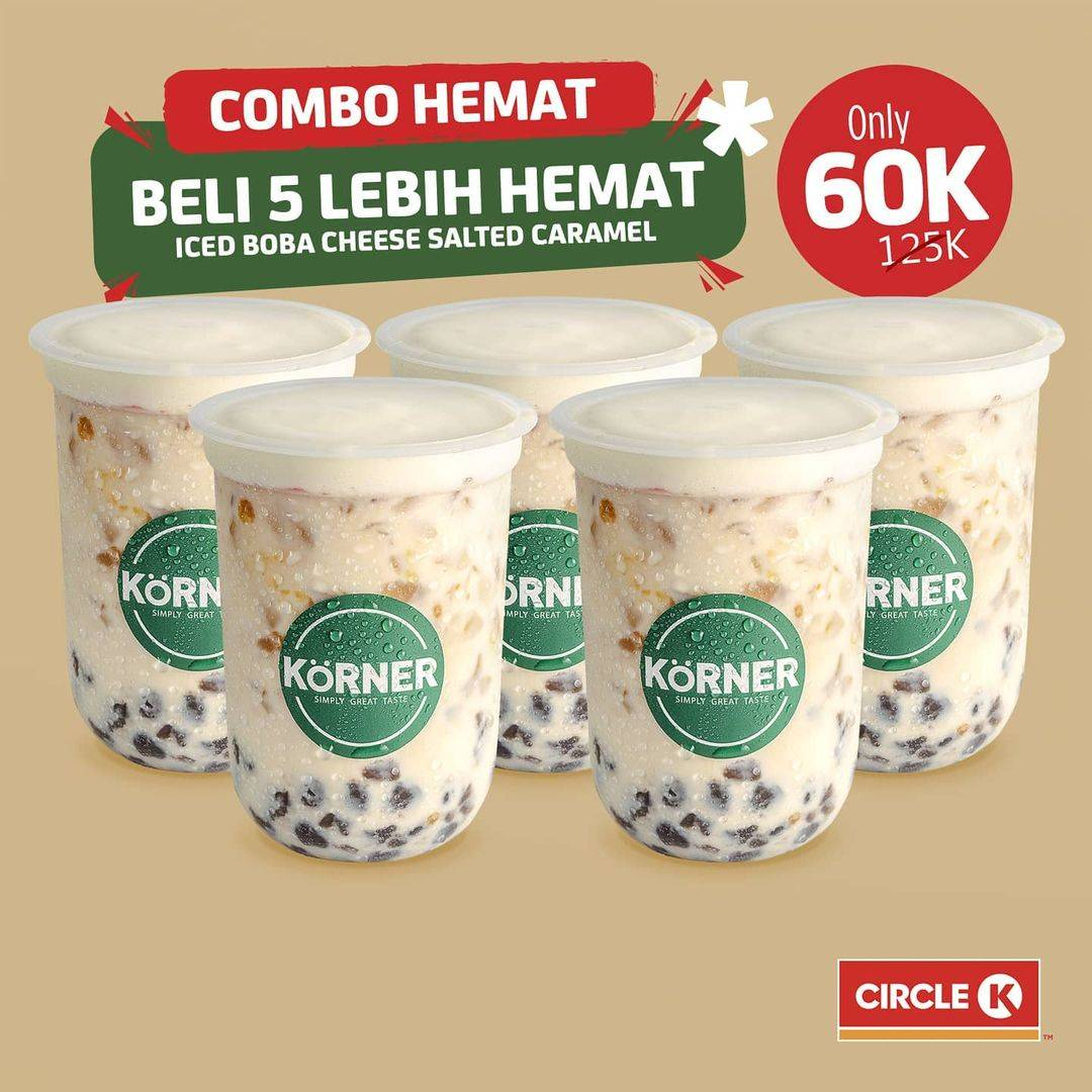 Diskon Circle K Promo Combo Hemat Iced Boba Cheese Salted Caramel Hanya Rp. 60.000