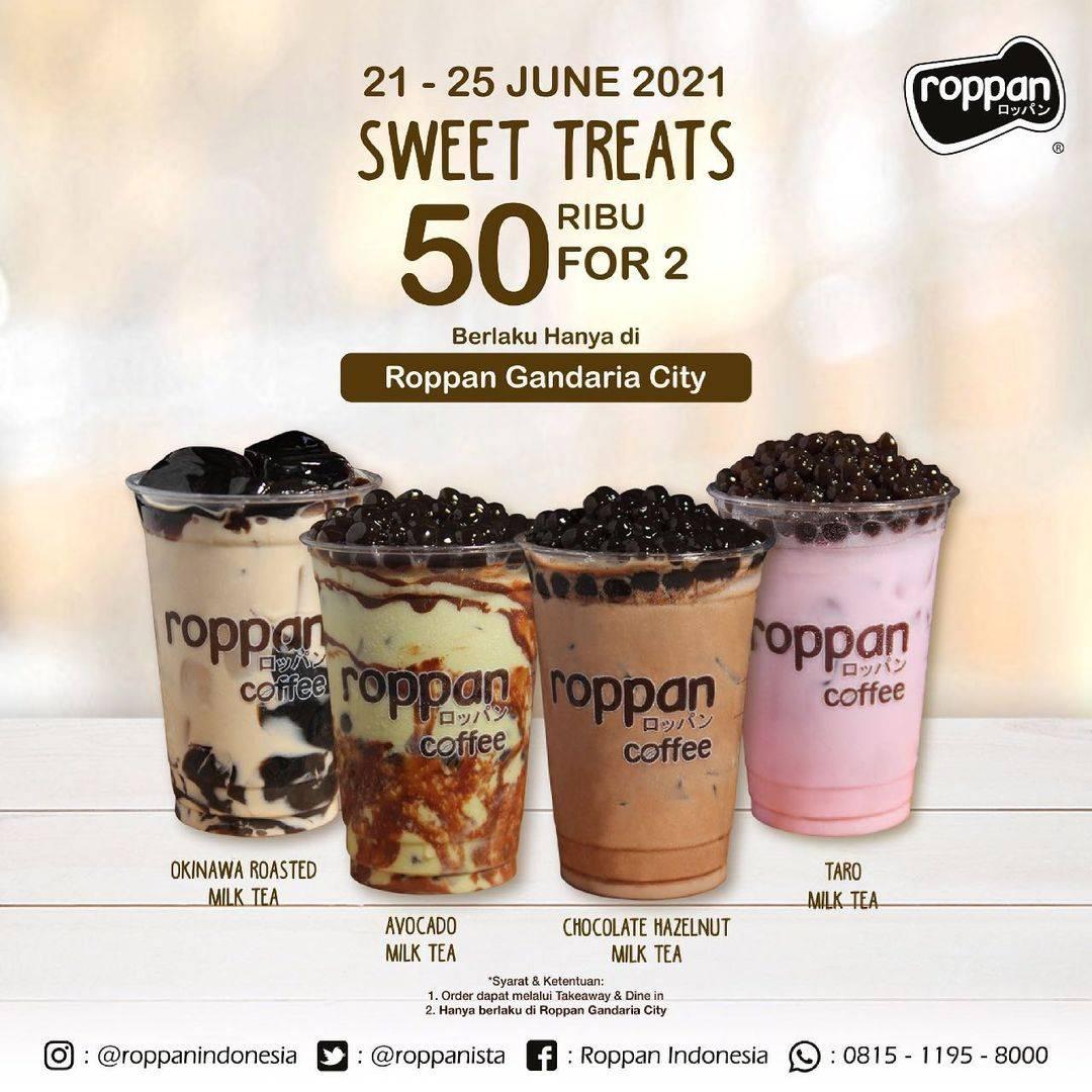 Diskon Roppan Sweet Treats 2 Milk Tea Hanya Rp. 50.000