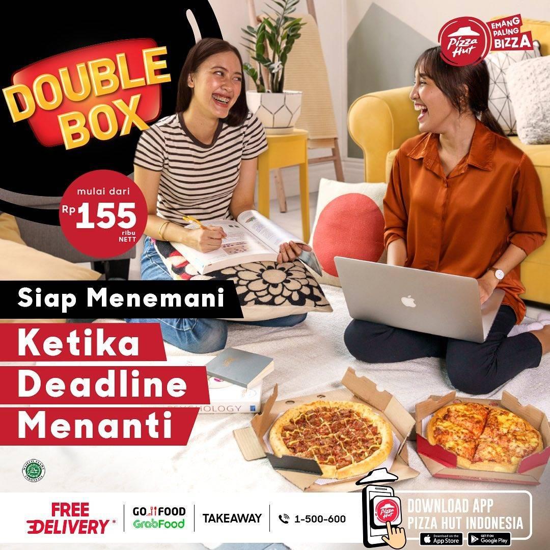 Diskon Pizza Hut Promo Double Box Mulai Dari Rp. 155.000