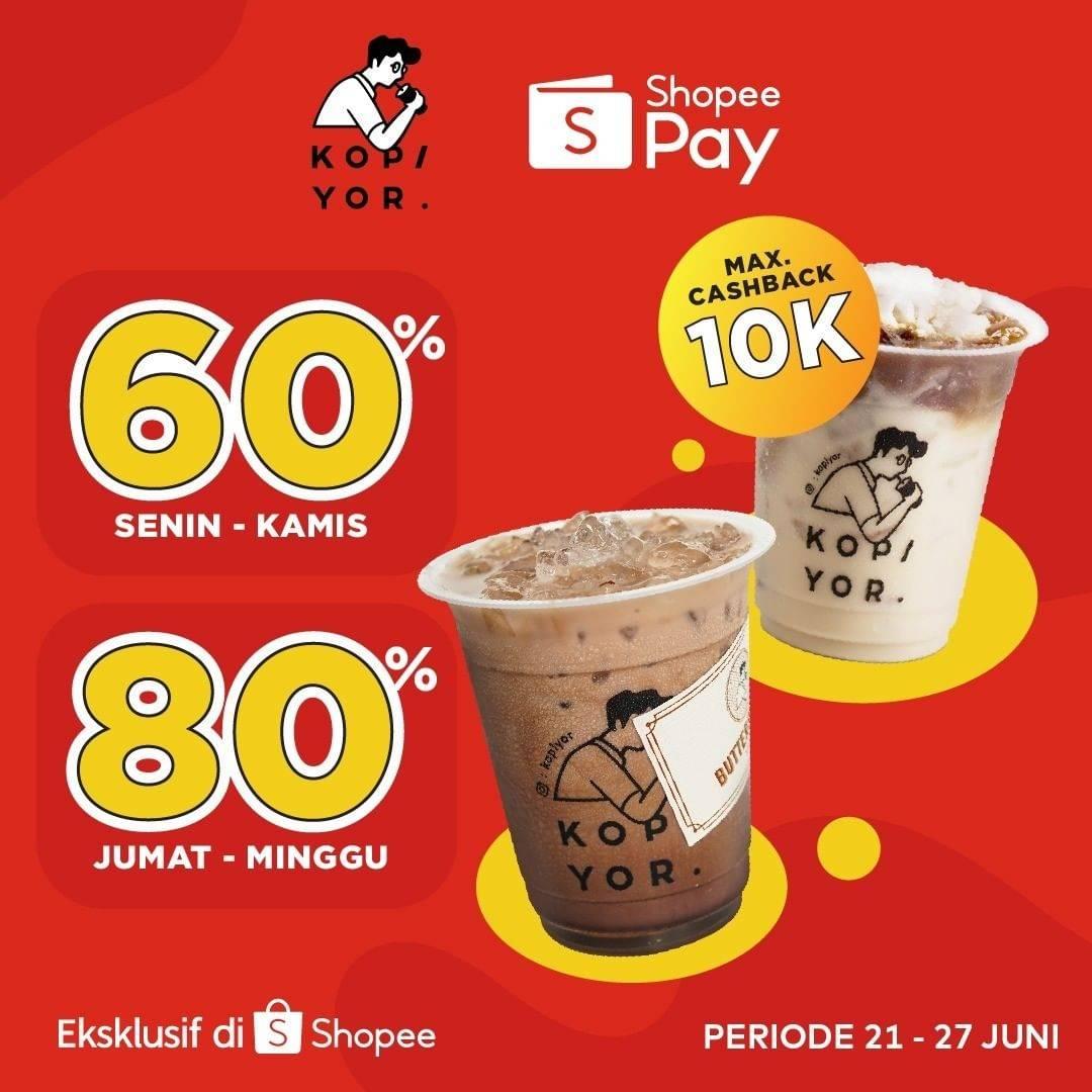 Diskon Kopi Yor Discount Hingga 80% Dengan ShopeePay