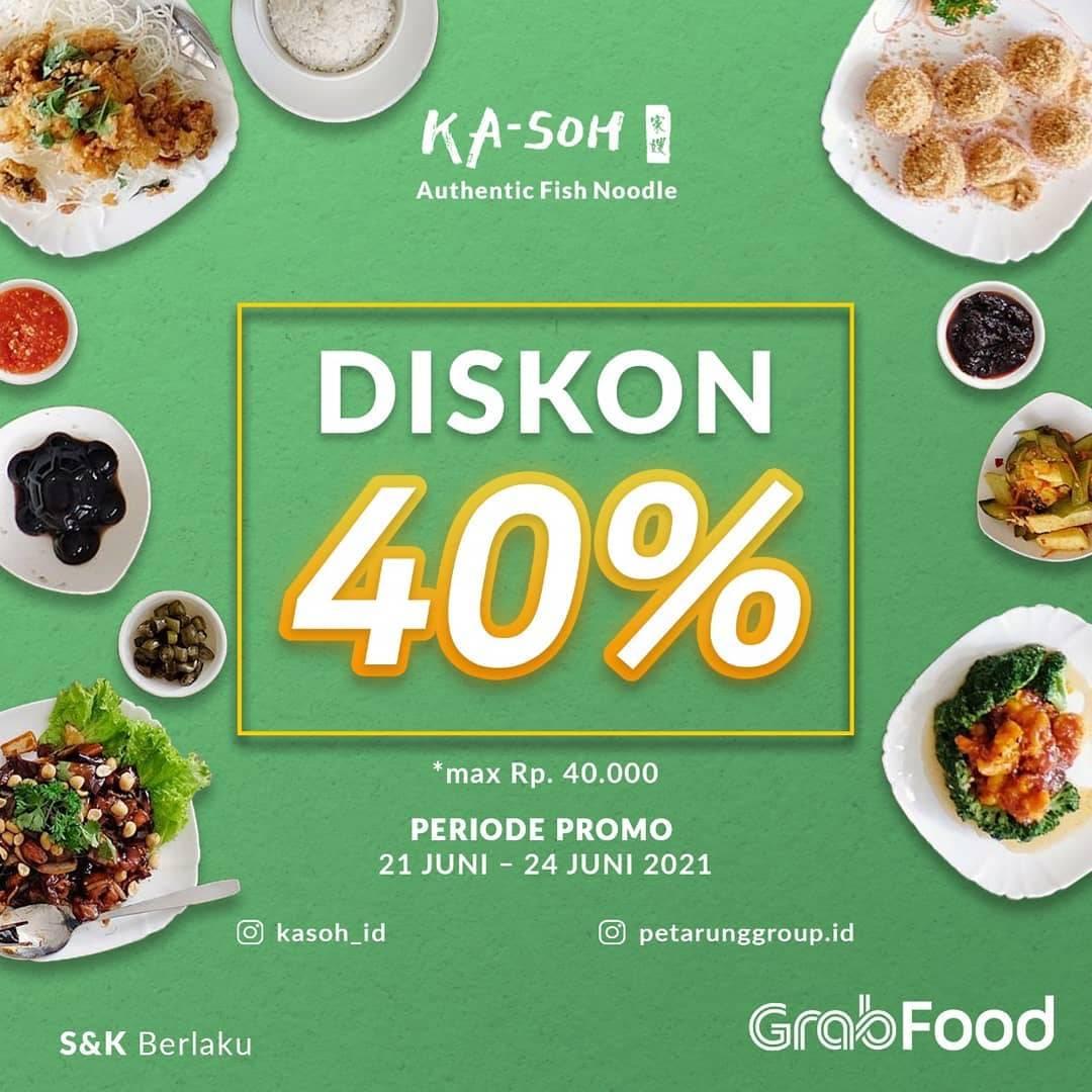 Diskon Ka-Soh Diskon 40% Dengan GrabFood