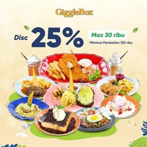Diskon Giggle Box Discount 25% Off On GrabFood