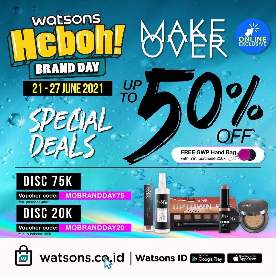 Diskon Watsons Diskon 50% Untuk Produk Make Over
