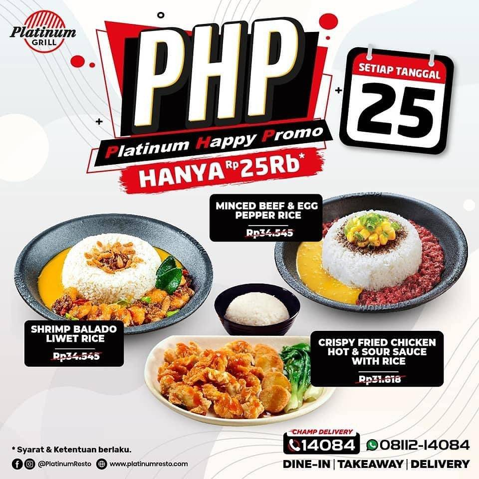 Diskon Platinum Grill Platinum Happy Promo Hanya Rp. 25.000